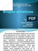Proyecto Socio-productivo Grupos Artisticos