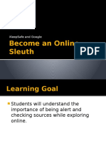 become an online sleuth slides