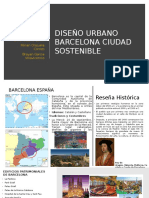 Diseño Urbano (Barcelona-España) Ciudad  Sustentable