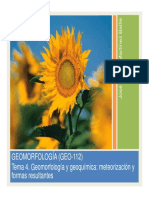 Tema 04 Geomorfologia Geoquimica Meteorizacion