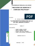 análisis de la ley servir