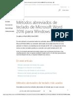 Métodos Abreviados de Teclado de Microsoft Word 2016 Para Windows - Word
