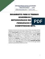 Reglamento Para El Trabajo Academico y Metodologico Mpc