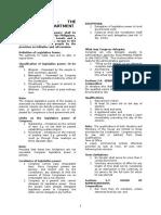 Article VI Legislative Department