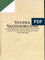 Studia Valvasoriana, Contents p.1-2