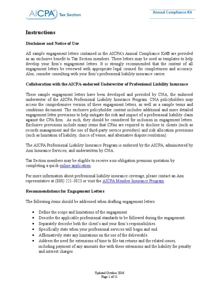 2016 990 Nonprofit Tax Return Engagement Letter   Tax Return (United