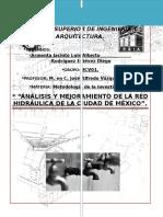 analisis y mejoramiento de la red hidraulica de la cdmx