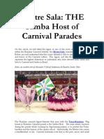 Mestre Sala Brazil Carnival