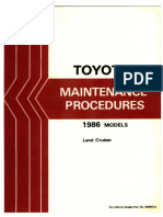 1986 Landcruiser Maintenance Procedures