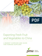 Exporting Fresh Fruit and Vegetables to China