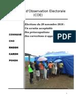 Rapport Complet sur les élections du 20 Novembre par RNDDH, CNO, CONHANE CARDH et POHDH (COE)