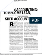 Lean Accounting_to Become Lean, Shed Accounting, Cost Management