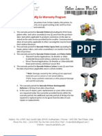 Printer AMC Warranty Details