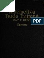 (1922) Automobile Trade Training