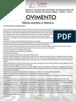 Prova Escrita e Pratica, Concurso Outorga Delegacoes Mg Edital 1-2014