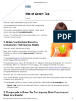 10 Proven Benefits of Green Tea