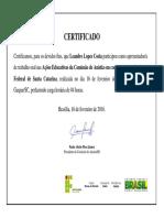 IFSC 2016 Certificado Apresentação Leandro