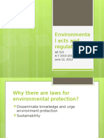 Environmental Acts and Regulations