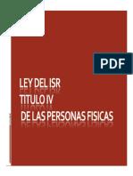 Ley Del Isr Titulo IV de Las Personas Fisicas (Ok)