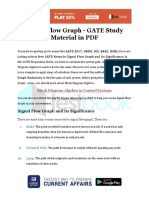 Signal Flow Graph - GATE Study Material in PDF