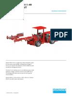 Specification Jumbo Drill Sandvik DD311-40