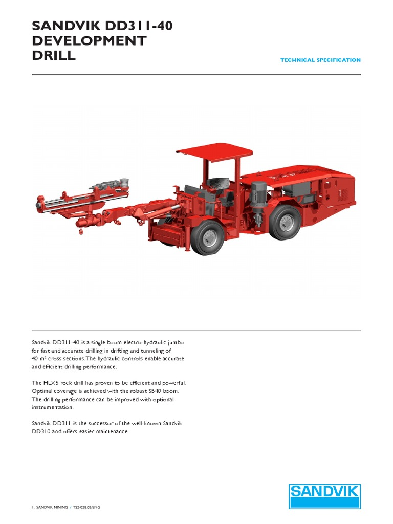 specification jumbo drill sandvik dd311 40 brake drilling rh scribd com Ryobi Weed Eater Operations Manual Ryobi Weed Eater Operations Manual