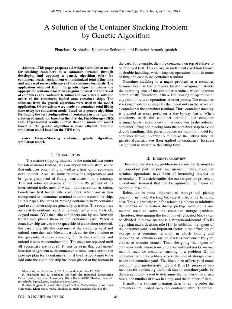 507-M016 | Containerization | Genetic Algorithm