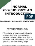 01 Abnormal Psychology