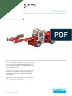 Specification Jumbo Drill Sandvik DD311D-40C