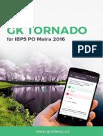 GK Tornado for IBPS PO Mains 2016 Exam 1