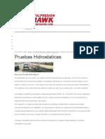 pruebas hidroestaticas
