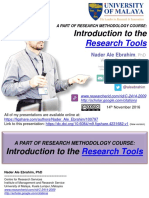 A PART OF RESEARCH METHODOLOGY COURSE