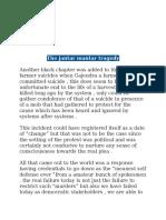 Jantar Mantar Tragedy