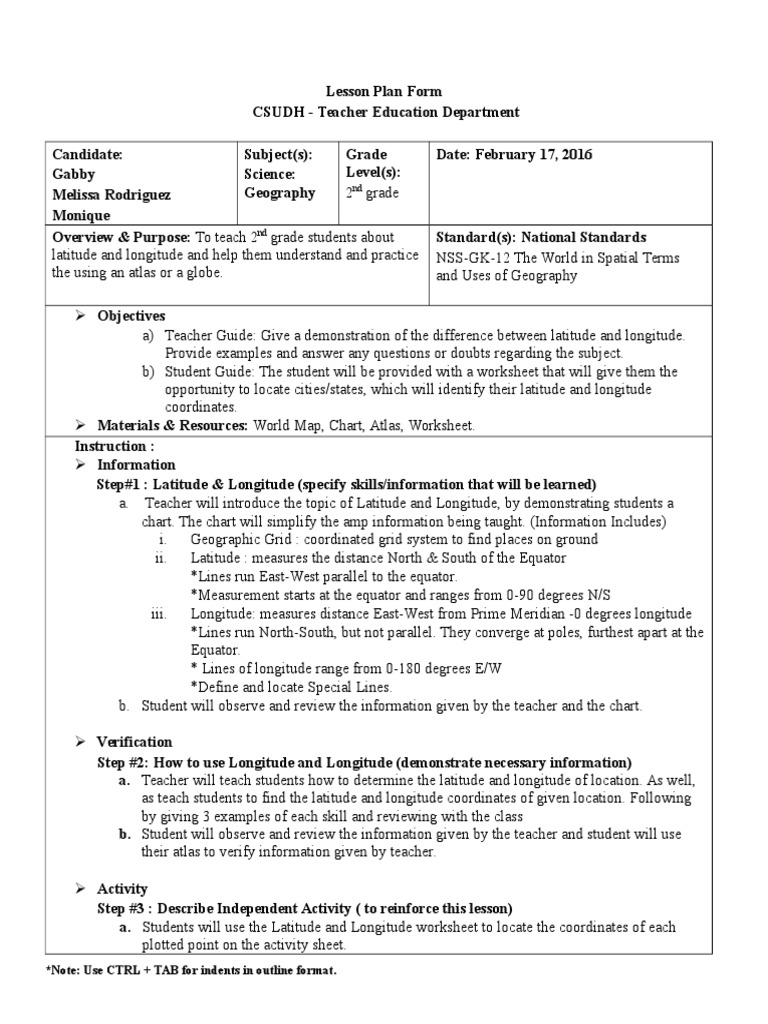 Worksheets Latitude And Longitude Coordinates Worksheet smt lesson plan longitude latitude