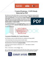 Stability of Control Systems - GATE Study Material in PDF