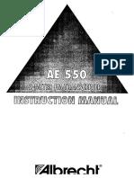 Ae550 Instruction Manual