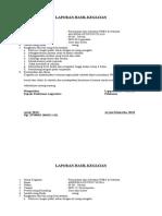 LAPORAN HASIL Advokasi