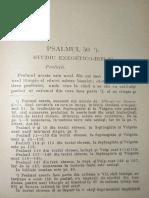 Demetrescu Dragomir, Psalmul 50. Studiu Exegetico-biblic I