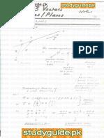 A Level Maths Vectors Notes.pdf