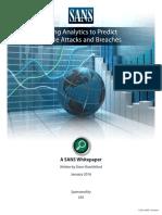 Sans Using Analytics to Predict Future Attacks Breaches 108130