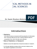 A Review in Statistical Methods