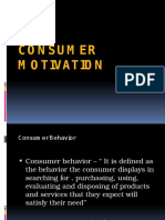 Consumer Motivation - BMM