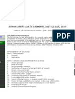 Administration of Criminal Justice Act of Nigeria 2015