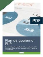 Plan de Gobierno PUP