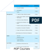 PDP Course Type
