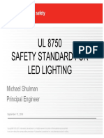 LED Use in Lighting UL8750 PPT