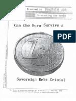 Can the Euro Survive a Sovereign Debt Crisis 6-14-10