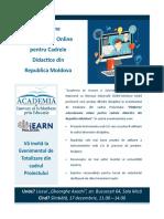 Eveniment Platforme Educationale Online pentru Cadrele Didactice din RM
