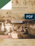 1.1 Catalogacion - Una Introduccion
