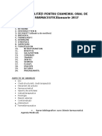 Lista Specialitati